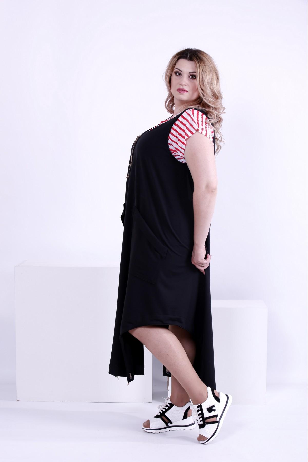 ... Фото Чорне вільне плаття (футболка окремо)  b2d181c8f31c3