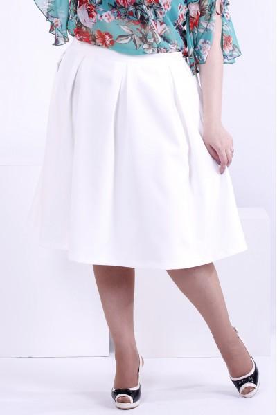 Молочная пышная юбка | 0881-1