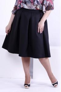 Фото Пышная черная юбка из костюмки | 0881-2