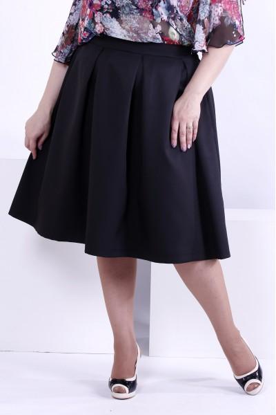 Пышная черная юбка из костюмки | 0881-2