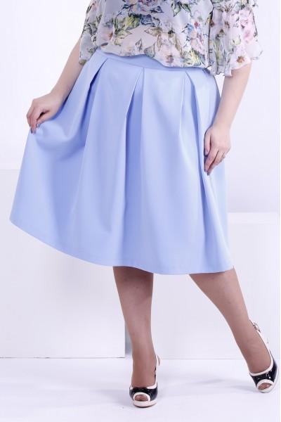 Голубая пышная юбка | 0881-3