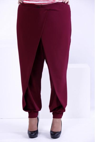 Фото Бордовые свободные брюки | b039-1
