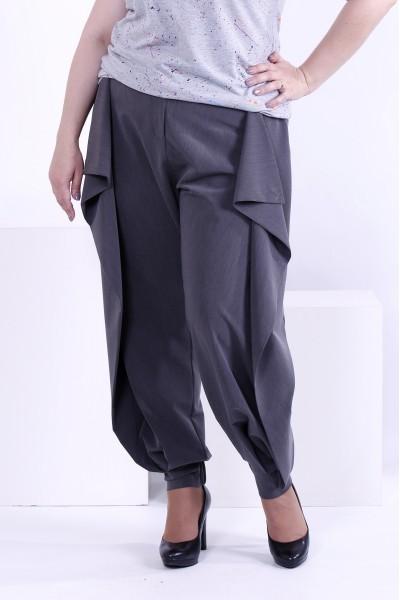Фото Серые брюки из вискозы | b039-2