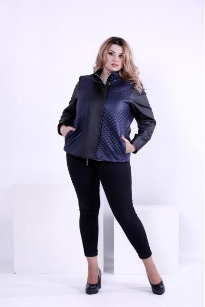Синяя короткая демисезонная куртка | t0877-2