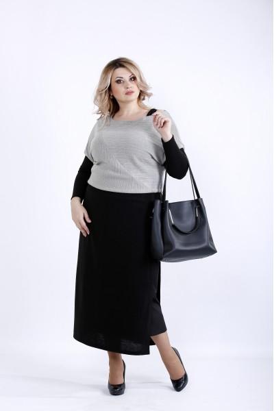 Фото Платье серого цвета | 0886-2