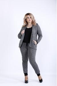 Фото  Зручний повсякденний костюм двійка (брюки і жакет) | 0893-3