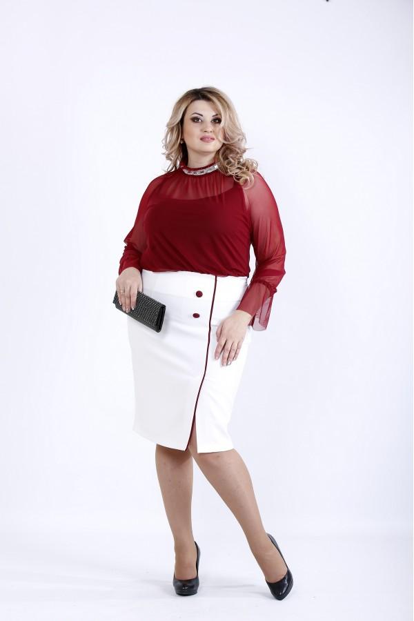 Фото Бордова нарядная блузка | 0896-2