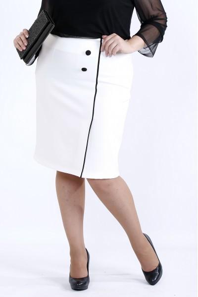 Фото Белая юбка с черным кантом | 0902-1