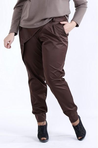 Фото  Шоколадні стильні штани | b040-1