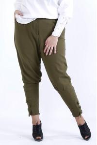 Фото Свободные удобные брюки хаки | b041-1
