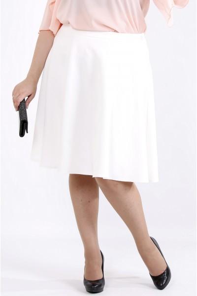 Фото Светлая юбка из костюмки | 0903-1