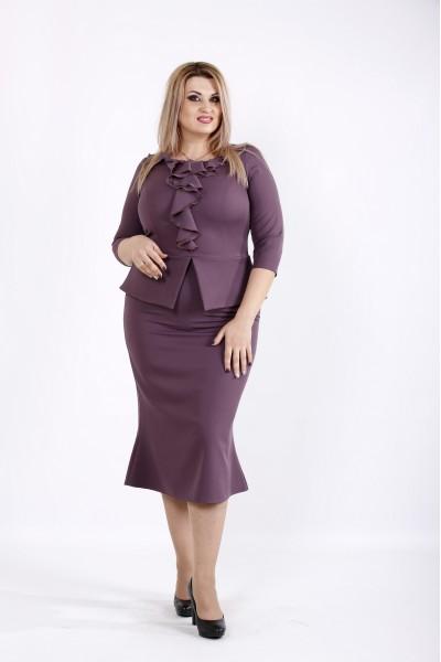 Фото Бисквитное платье ниже колена | 0928-3