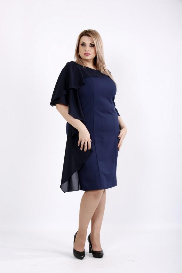 Фото Платье синего цвета из костюмки | 0930-2