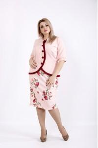Фото Розовый костюм с цветами | 0940-3