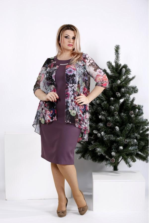 Фото Бисквитное платье с цветным шифоном | 0958-2