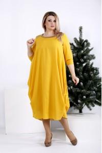 Фото Гірчичне стройнящіх плаття | 0960-3