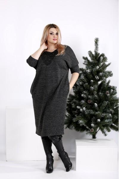 Фото Практичное и приятное темное платье   0970-2
