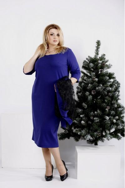 Фото Фиолетовый костюм: платье и кардиган | 0977-1