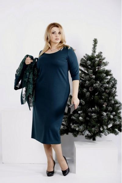 Фото Ошатний комплект зеленого кольору: кардиган і плаття | 0977-2