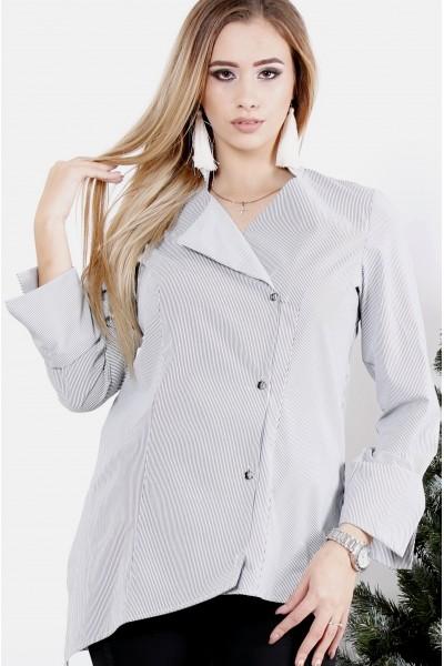 Фото Светлая блузка в черную полоску | 0982-1
