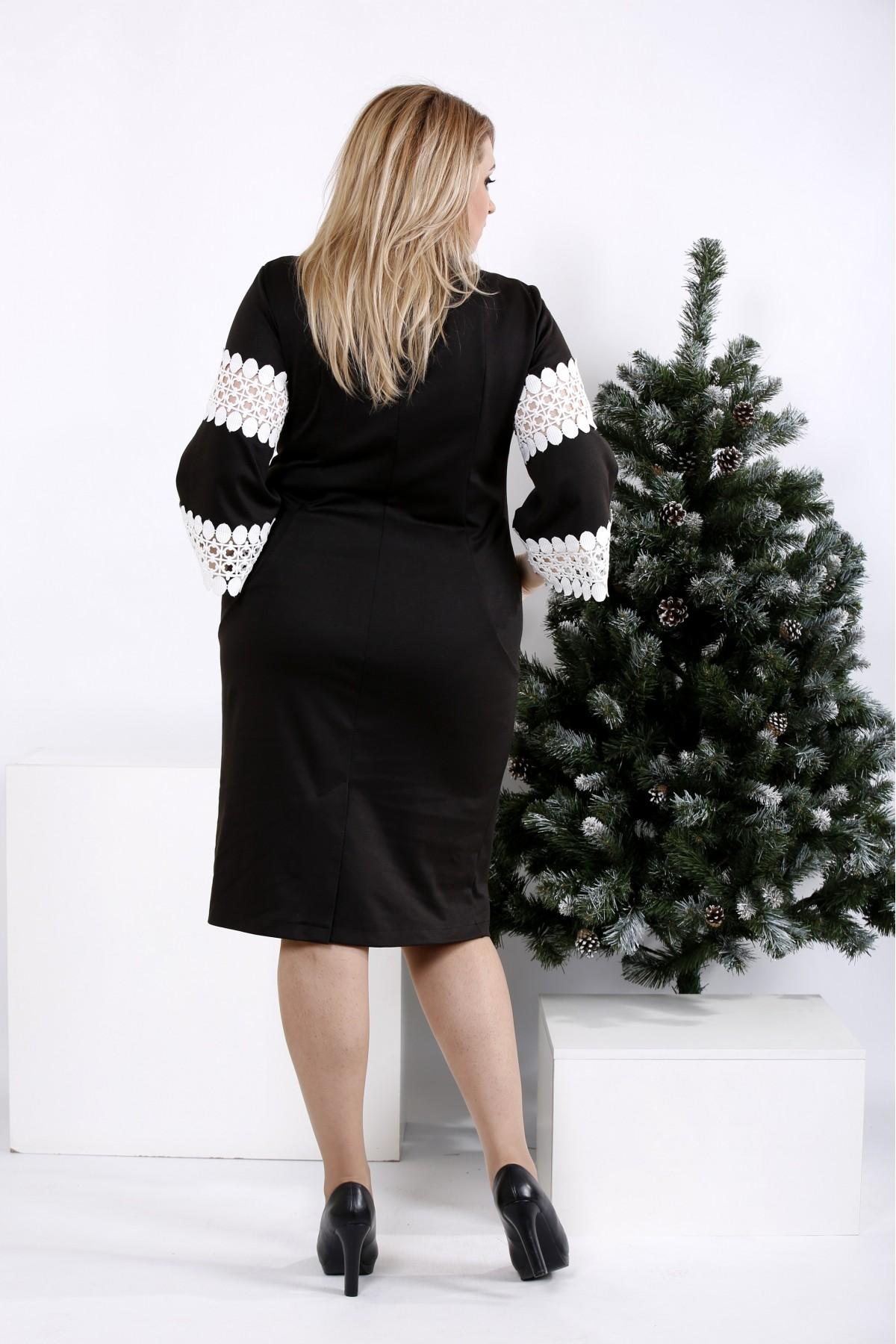 ... Фото Чорна сукня з білим мереживом  beb96a624110b