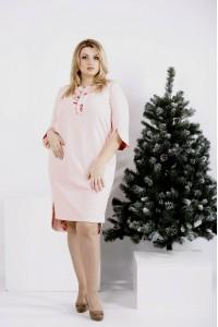 Фото Нежное пудровое платье | 0992-1