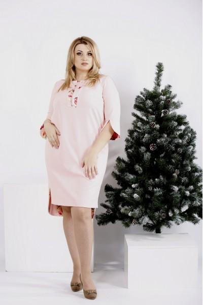 Фото Нежное пудровое платье   0992-1