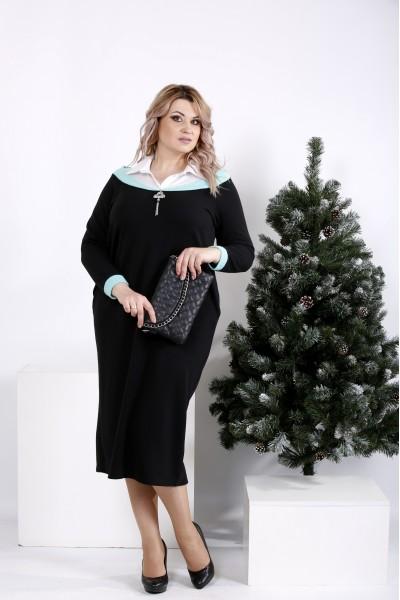 Фото Стильное платье мятного цвета | 01004-1