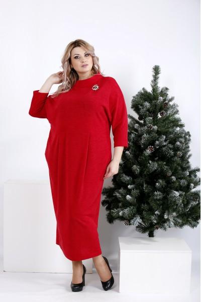Фото Красное платье-мешок | 01005-2