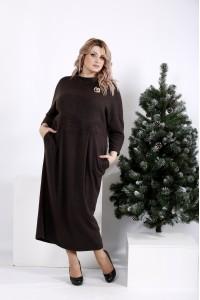 Фото Платье из ангоры шоколадного цвета | 01005-3