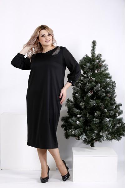 Фото Нарядное черное платье   01009-3