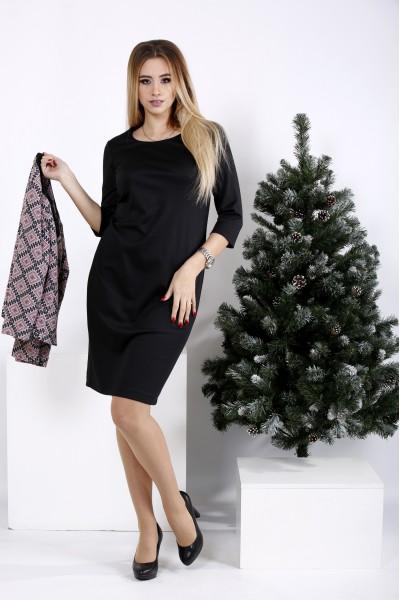 Фото Деловой костюм: черное платье и пиджак | 01010-1