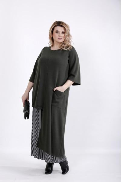 Фото Асимметричное платье с карманом | 01022-2