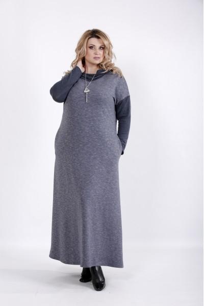 Фото Свободное платье в пол с длинным рукавом | 01027-3