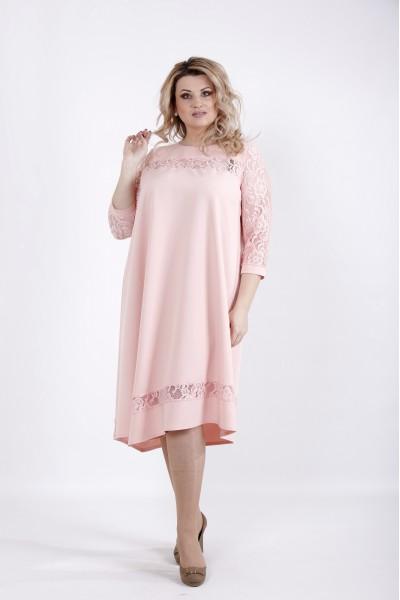 Фото Нарядное платье пудра | 01028-1