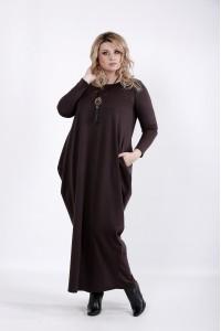 Фото Шоколадное платье в пол | 01030-1
