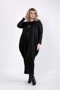Фото Черное длинное платье | 01030-3