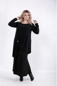 Фото Черная свободная блузка | 01031-1