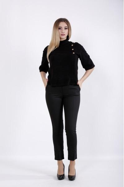 Фото Черная теплая блузка из ангоры | 01035-1