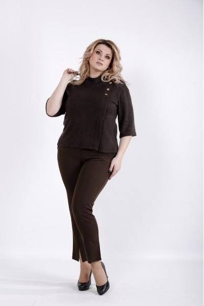 Фото Шоколадная блузка из ангоры | 01035-3