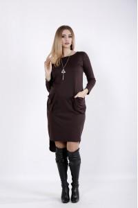 Фото Шоколадное платье с карманами | 01042-1