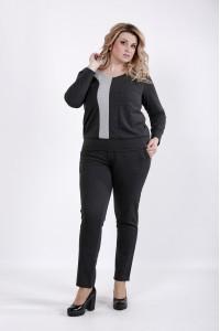 Фото Серый костюм из двухнитки | 01043-2