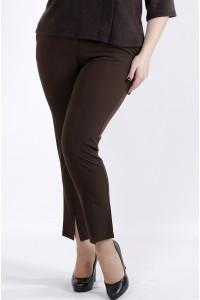 Фото Шоколадные брюки из вискозы | b045-3