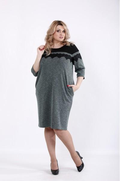 Фото Зеленое практичное платье | 01047-2