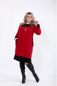Фото Красное платье миди | 01055-3