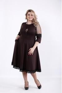 Фото Шоколадное пышное платье | 01056-1
