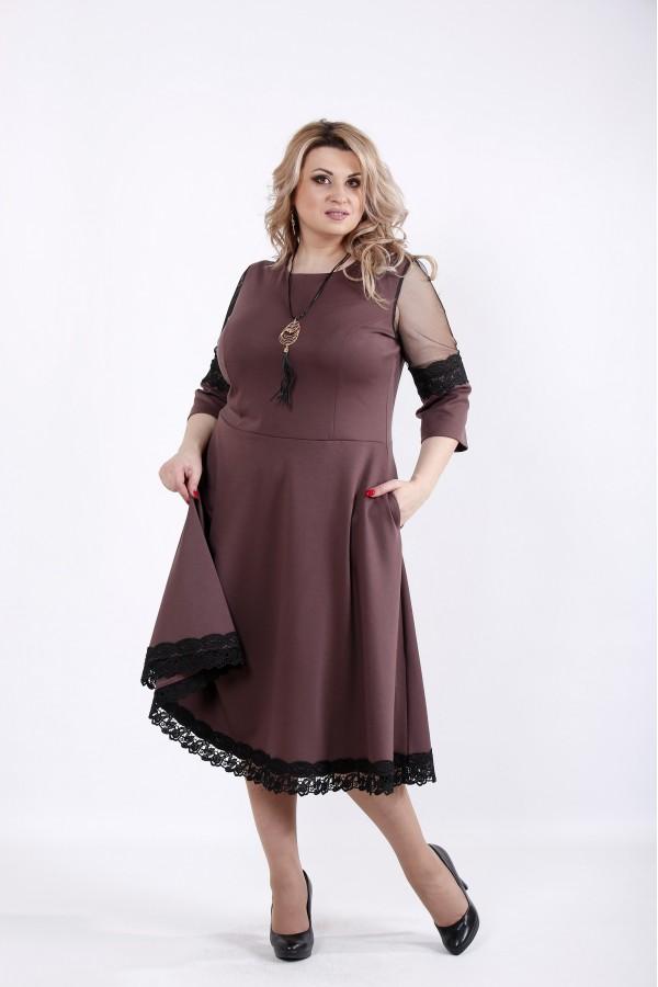Фото Бисквитное платье с пышной юбкой | 01056-2