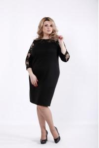 Фото Элегантное черное платье с вышивкой | 01060-1