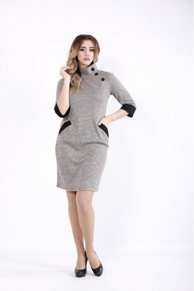 Фото Пудровое платье с карманами | 01062-2