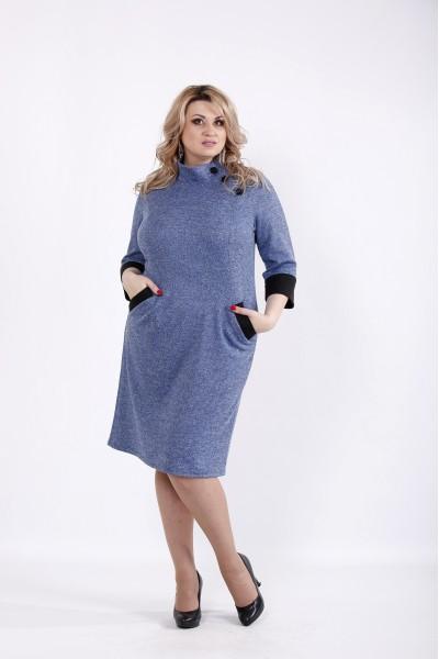 Фото Платье джинс из ангоры с карманами | 01062-3